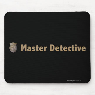 Master Detective Gold Mouse Pad