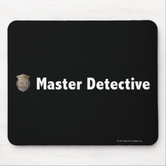 Master Detective White Mouse Pads