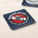 Master Diver (Hammerhead) Beverage Coaster