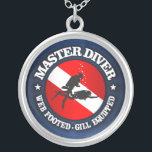 """Master Diver (Medallion) Silver Plated Necklace<br><div class=""""desc"""">Master Diver (Medallion)</div>"""