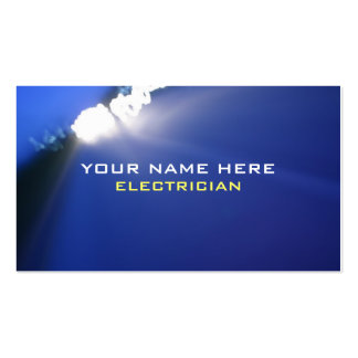 Master Electrician Business Cards