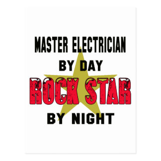 Master Electrician by Day rockstar by night Postcard