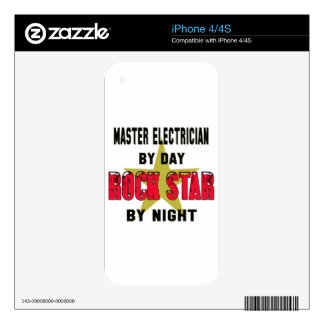 Master Electrician by Day rockstar by night Skin For The iPhone 4S