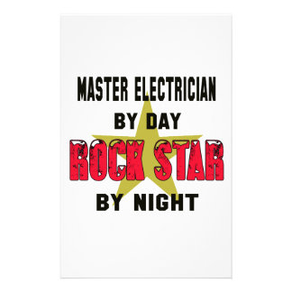 Master Electrician by Day rockstar by night Stationery