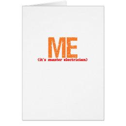 Master Electrician Description Card