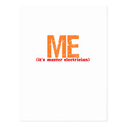 Master Electrician Description Postcard
