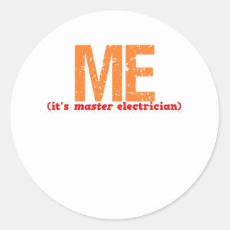 Master Electrician Description Sticker