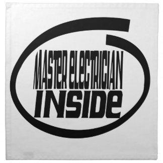Master Electrician Inside Cloth Napkins