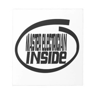 Master Electrician Inside Memo Notepad