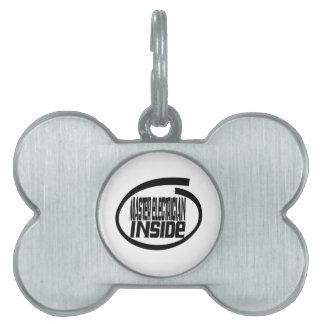 Master Electrician Inside Pet Name Tags