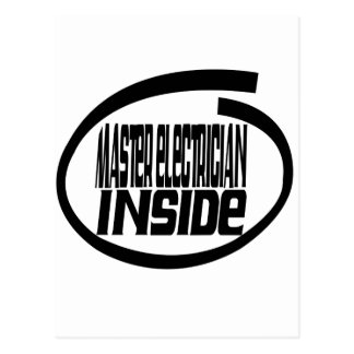 Master Electrician Inside Post Card