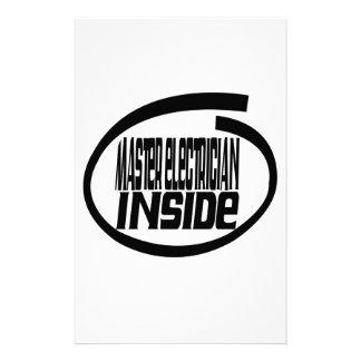 Master Electrician Inside Stationery Design