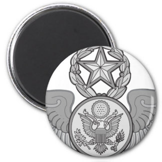 MASTER ENLISTED AIRCREW WINGS 2 INCH ROUND MAGNET