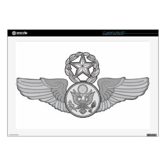 """MASTER ENLISTED AIRCREW WINGS SKIN FOR 17"""" LAPTOP"""