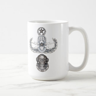 Master EOD 2nd Class Diver Classic White Coffee Mug