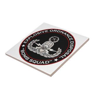 Master EOD Bomb Squad Ceramic Tile