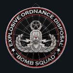 "Master EOD Bomb Squad Dartboard<br><div class=""desc"">Original photo of a Master EOD badge with Bomb Squad text</div>"