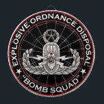 "Master EOD Bomb Squad Dartboard<br><div class=""desc"">Original photo of a Master EOD badge with Bomb Squad text</div>"