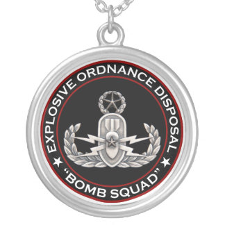 Master EOD Bomb Squad Silver Plated Necklace