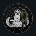 "Master EOD Bomb Suit Dartboard With Darts<br><div class=""desc"">EOD Master badge with Bomb Suit.   Background color can be changed (depending on product type) and image can be resized/moved by using customize button.</div>"