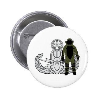 Master EOD Bomb Suit Pinback Button
