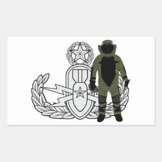 Master EOD Bomb Suit Rectangular Sticker