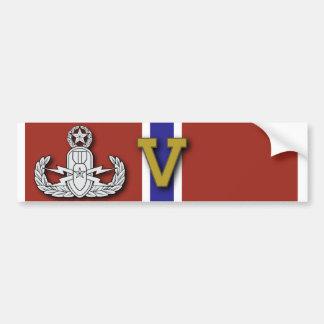 "Master EOD Bronze Star ""V"" Car Bumper Sticker"