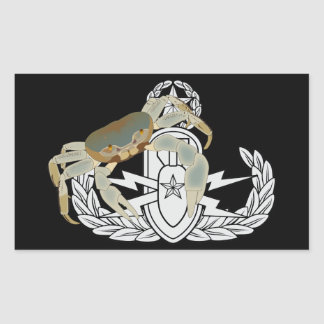 Master EOD Crab Rectangular Sticker