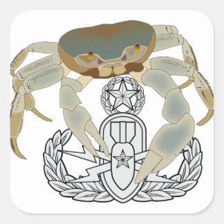 Master EOD Crab Square Sticker