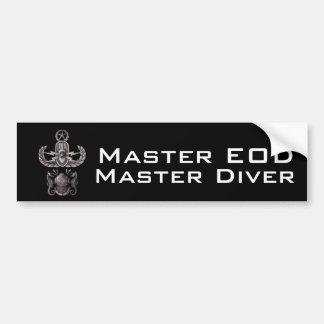 Master EOD Master Diver Bumper Sticker