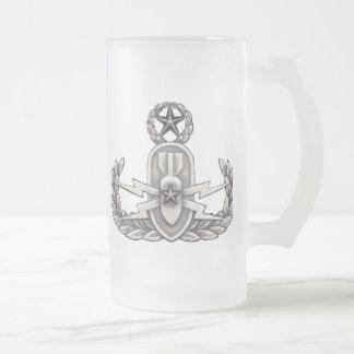 Master EOD 16 Oz Frosted Glass Beer Mug
