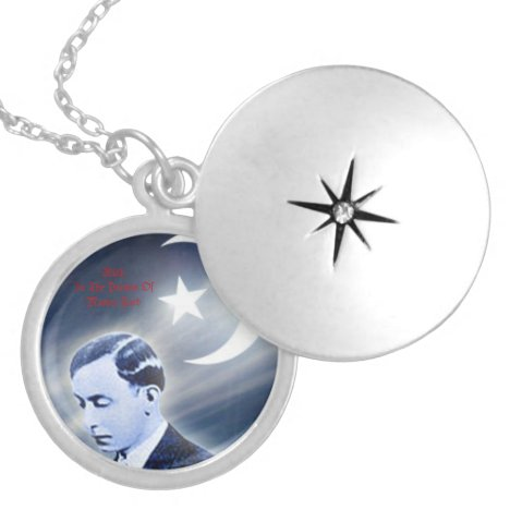 Master Fard Muhammad Silver Plated Necklace