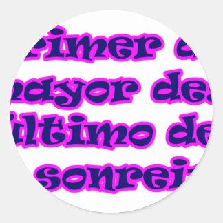Master frases 15.08 classic round sticker