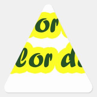 Master frases 17.04 triangle sticker