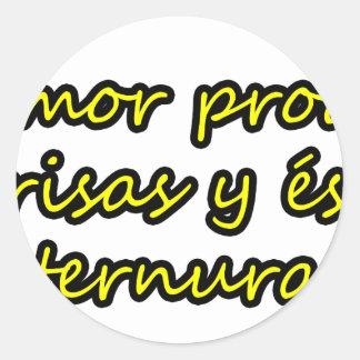 Master frases 8 classic round sticker