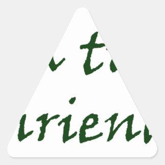 Master frases triangle sticker
