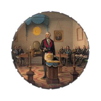 Master Freemason Washington 1870 Jelly Belly Candy Tin