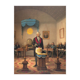 Master Freemason Washington 1870 Canvas Print