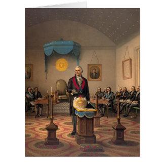 Master Freemason Washington 1870 Card
