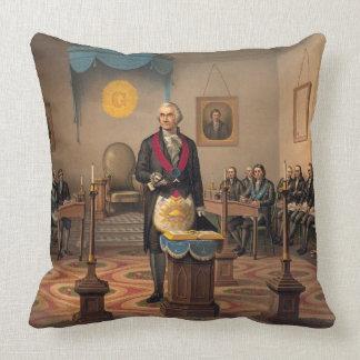 Master Freemason Washington 1870 Throw Pillow