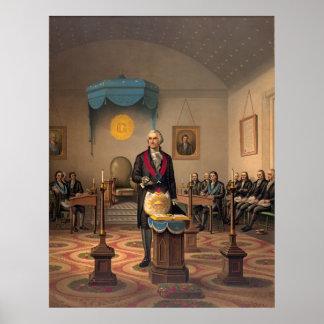 Master Freemason Washington 1870 Poster