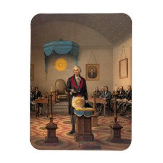 Master Freemason Washington 1870 Rectangle Magnets