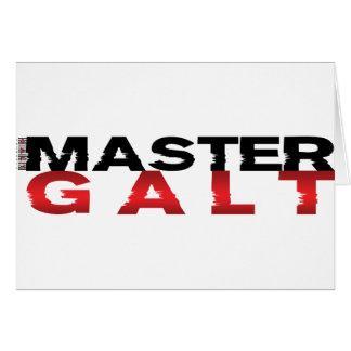 Master Galt Greeting Card
