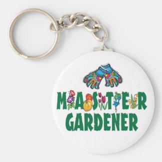 Master Gardener Basic Round Button Keychain
