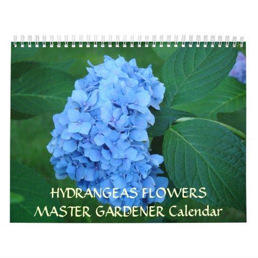 MASTER GARDENER Calendar Hydrangeas Flowers