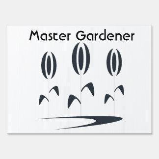 Master Gardener Floral Plant Business Sign