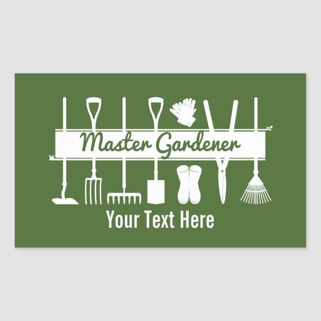 Master Gardener Modern Forest Green Personalized