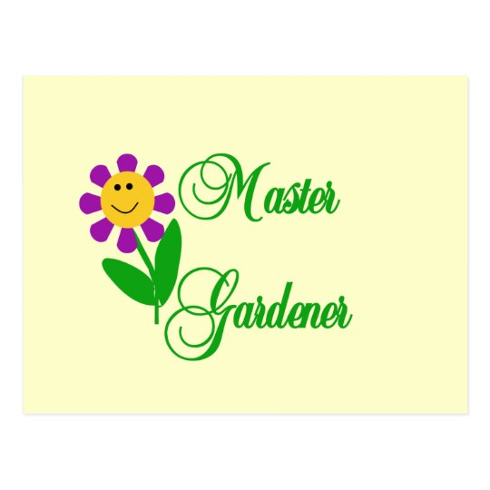 Master Gardener Tshirts and Gifts Postcard