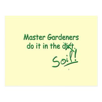 Master Gardeners Do It In The Soil Postcard