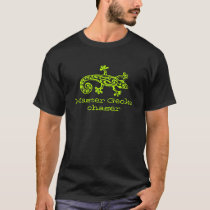 Master Gecko chaser graphic lime green t-shirt